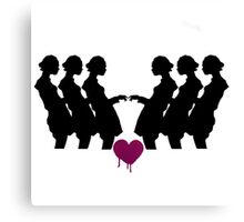 Six Shadows, One Heart Canvas Print