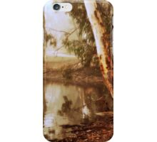 Winter's Morn at Kennington Resevoir By Lorraine McCarthy iPhone Case/Skin