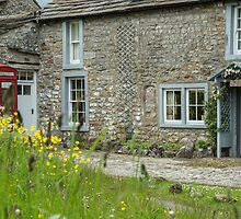 Cottage and phone box by Judi Lion