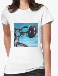 A Great Day - bicycle art T-shirt Womens Fitted T-Shirt