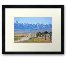 Alberta Mountains Framed Print