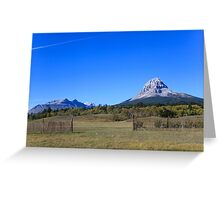 Blue Sky and the Mountains Greeting Card