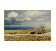 Old Cabin in the Plains  Art Print