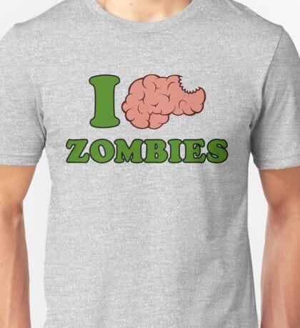 I Brain Zombies Unisex T-Shirt