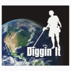 I Dig the Earth - Metal detecting, treasure hunters T-Shirt by LindaAppleArt