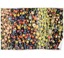 Colorful Tagua Beads at the Otavalo Market Poster