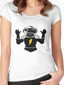 Mighty Morphin Power Rangers Alpha 5 Women's Fitted Scoop T-Shirt