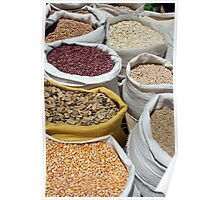 Corn and Beans at the Otavalo Market Poster