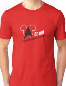 Oh no! I'm Wearing a Red Shirt on Gay Day! Unisex T-Shirt