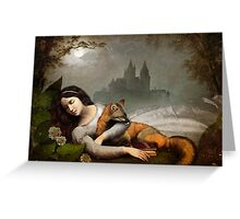 dreaming in the woods Greeting Card