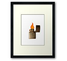 Lighter - flame Framed Print