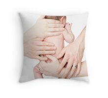 Parenting is hands on Throw Pillow