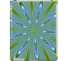 Star Burst in Lime and Blue Abstract Kaleidoscope iPad Case/Skin