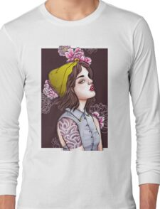 Peonies and Nose Rings Long Sleeve T-Shirt