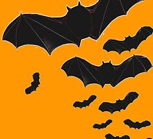 Halloween Special! - Flying bats poster by bardenne