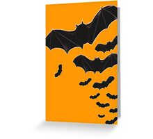 Halloween Special! - Flying bats poster Greeting Card