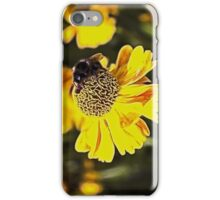 Bee on a flower iPhone Case/Skin