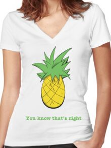 You Know That's Right Women's Fitted V-Neck T-Shirt