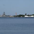 "USS Missouri (left) and USS Arizona Memorial, Pearl Harbor, Oahu by Edmond J. [""Skip""] O'Neill"