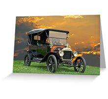 1914 Ford Model T Touring Car Greeting Card