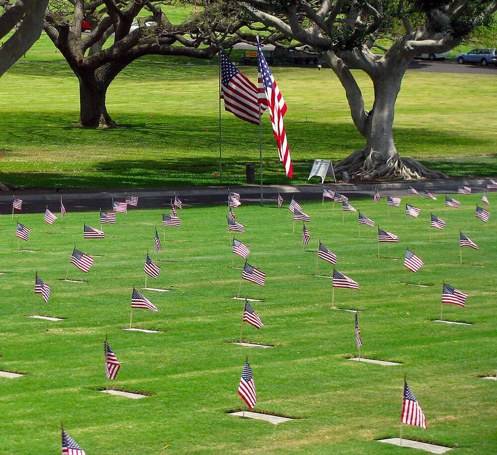 """National Memorial Cemetery of the Pacific (Punchbowl)  Memorial Day 2013 by Edmond J. [""""Skip""""] O'Neill"""
