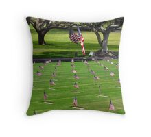 National Memorial Cemetery of the Pacific (Punchbowl)  Memorial Day 2013 Throw Pillow