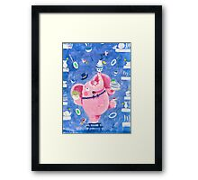 Elephant in a porcelain shop - Clumsy Rondy the Elephant Framed Print