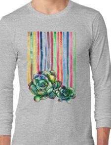 Rainbow Succulents Long Sleeve T-Shirt