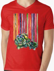 Rainbow Succulents Mens V-Neck T-Shirt