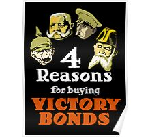 4 Reasons For Buying Victory Bonds -- WWI Poster
