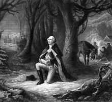 General Washington Praying At Valley Forge by warishellstore
