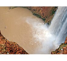 Man Facing Mooney Falls  Photographic Print