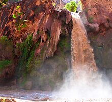 Havasu Falls Study 2 During Flash Flood by Robert Meyers-Lussier