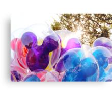Mickey Mouse Balloons Metal Print