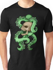 Skull with Neon Tentacles Unisex T-Shirt