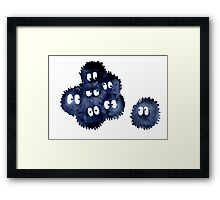 Silly Soot Sprites Framed Print