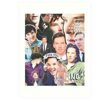 benedict collage Art Print