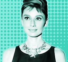 Audrey Hepburn - Tiffany Dream - Pop Art by wcsmack