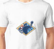 American Baseball Pitcher Throw Ball Retro Unisex T-Shirt