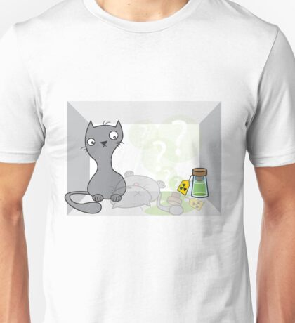 Schrödinger's cat is.... alive Unisex T-Shirt