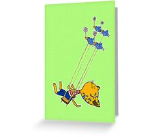 Swinging cat Greeting Card