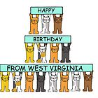 Cats Happy Birthday from West Virginia by KateTaylor