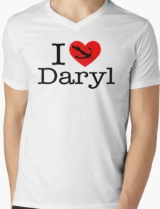 I Love Daryl Mens V-Neck T-Shirt