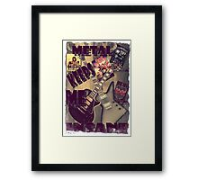 METAL KEEPS ME INSANE Framed Print