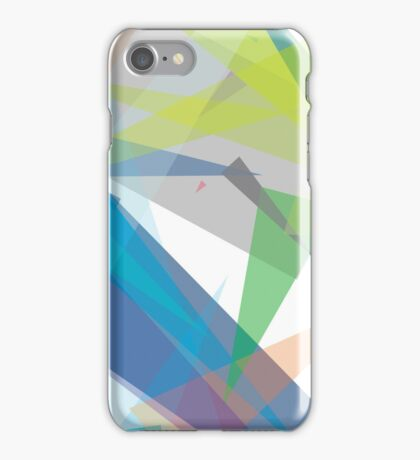 Blue green geometry - abstract case design iPhone Case/Skin