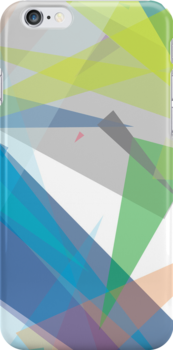 Blue green geometry - abstract case design by BOXZERO Andrew Miller