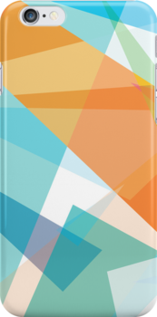 orange and blue - diagonal geometric abstract cases by BOXZERO Andrew Miller