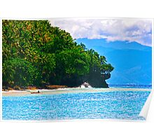 Rocks at Pangubatan Beach - Samal Island Poster