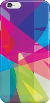 blue, pink  +  yellow / green - abstract case design by BOXZERO Andrew Miller