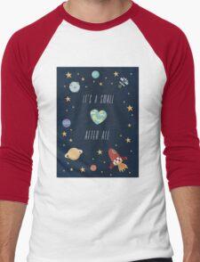 It's a small world after all! Men's Baseball ¾ T-Shirt